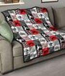 Braaap Motocross in Red Cubes Quilt King Size - All Season Comforter with Cotton Quilts - Best Decorative Unique Banklet for Traveling, Picnics, Beach Trips, Gifts
