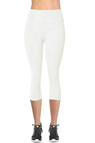 - VIV Collection Signature Capri MID Yoga Waist NO Pocket (S, White)