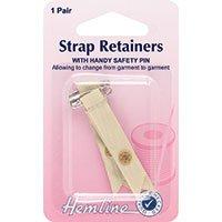 (Hemline H788.S | Skin Bra Shoulder Strap Retainer | 1 Pair With Safety Pin)