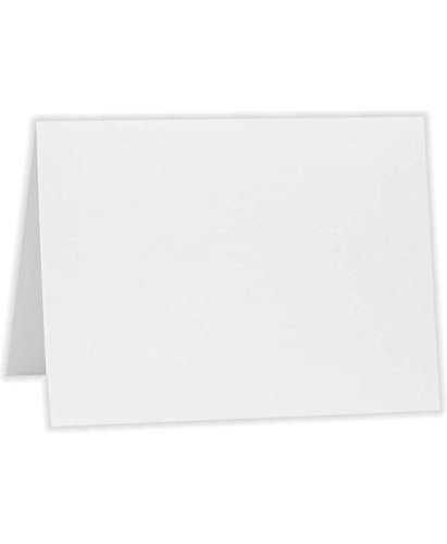 A2 Folded Card (4 1/4 x 5 1/2) - Bright White - 100% Cotton (250 Qty.) by Reich Paper