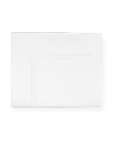 Sferra Grande Hotel Flat Sheet - King - White/White
