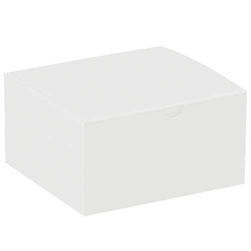 Aviditi GB553 Gift Boxes, 5'' x 5'' x 3'', White (Pack of 100) by Aviditi
