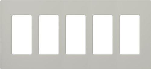 Lutron SC-5-PD Satin Colors 5-Gang Wallplate,