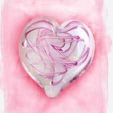 - Glass Eye Studio Limited Edition Tickled Pink Heart Paperweight