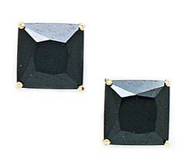 marcas de moda 14ct de de de oro amarillo de 8 x 8 mm con circonita cuadrada de cesta pendientes - JewelryWeb  venderse como panqueques
