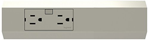 adorne Titanium 15A Tamper-Resistant 2-Outlet Modular Track
