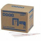 Dixie Unwrapped Plastic Striped Stir Sticks, 5.5'' (DIXHS551) Category: Stir Sticks and Sipsticks