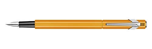Caran d'Ache 849 Fountain Pen, Fluorescent Orange with Aluminum Body, Nib M (840.030)