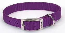 Coastal Pet Products DCP290120PUR Nylon Double Dog Collar, 1 by 20-Inch, Purple