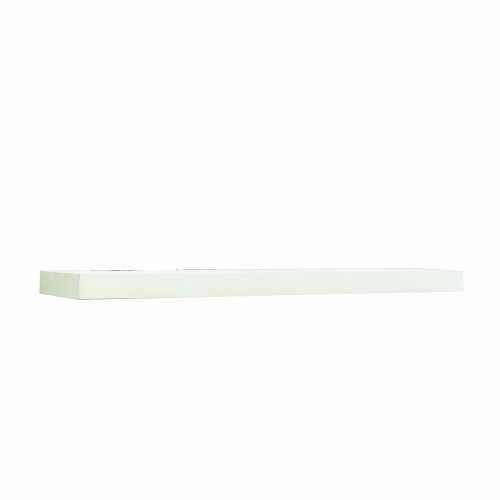 InPlace Shelving 0191828 Wide Floating Wall Mountable Shelf, White, 23.6-Inch Wide by 10-Inch Deep by 2-Inch High by Lewis Hyman