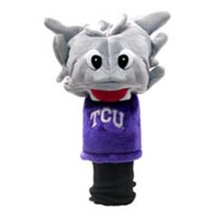 TCU Horned Frogs Mascot Headcover NEW fits Oversize Driver, long neck