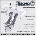 TEKNO R/C TKR1009TM Adjustable Wing Mount T-Maxx TKRC1010