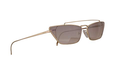 Prada PR64US Sunglasses Pale Gold w/Gradient Brown Mirror Silver 67mm Lens ZVN4O0 PR 64US SPR 64U SPR64U