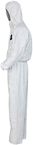 ,2pcs,XXXL Color, 1PCS, Size, XXL Breathable Spray Paint Dust-proof Electrostatic Dust-free Overalls White ZFZ Overall Protective Safety Work One-piece Hooded Chemical Protective Suit