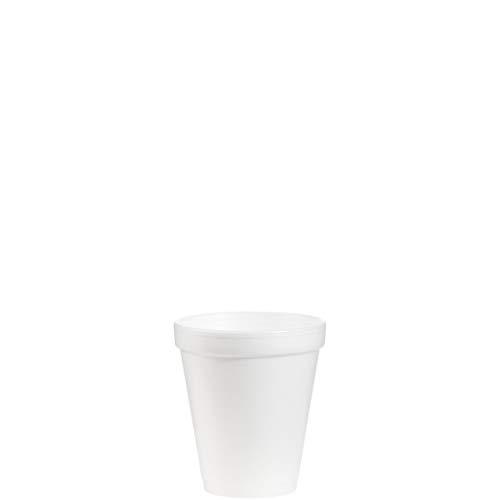 Dart 8J8 8 oz Foam Cup, 8 Series Lids (Case of - 0.5 Ct Chocolate