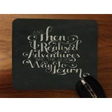 Trendy Accessories Inspirational Quote Glasses Design Desktop Office Silicone Mouse Pad