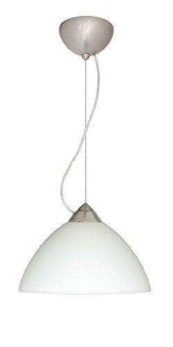 Besa Lighting 1KX-420107-SN Tessa - One Light Pendant, Choose Finish: SN: Satin Nickel, Choose Mounting Option: 1KX: Dome Canopy Cable Fixture, Choose Lamping Option: 75W Incandescent-A19 Medium-120v