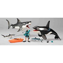 Amazon Com Great White Shark Amp Killer Whale Playset