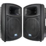 Seismic Audio NPS-15pr Pro Audio PA DJ 15-Inch Speakers - Lightweight Molded Cabinets - 700 Watts