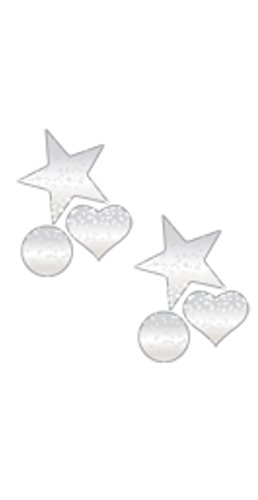 MINIS: MINI SILVER GLITTER ROCKSTAR, SWEETY & CIRCLE PASTIES