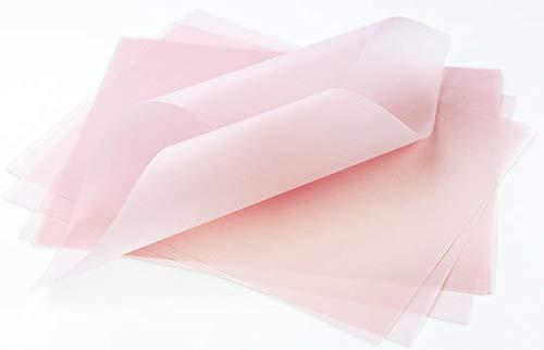 Pastel Pink Translucent Vellum - 8 1/2 x 11, 27lb Glama, 100 -