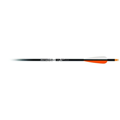 Carbon Express 56501 Game Slayer Aluminum Hunting Arrow with 4-Inch Vanes and TCX Nocks, 2117-Sized Black Shaft, 12-Pack