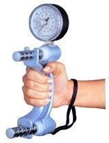 Jamar Hydraulic Hand Dynamometer - Jamar Hydraulic Hand Dynamometer, Max Force Patient Progress Indicator to Measure Grip Strength, Calibrated Strengthener Measures PSI, Cordless Hand Trauma Evaluation Tool, Easy Squeeze, Adjustable