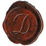 Alphabet Initial Seal Wax Stamp, Letter D