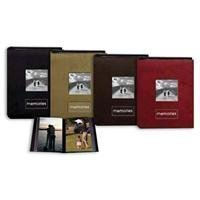 Pioneer Embroidered Patch Faux Suede Photo Album, with Front Cover Frame, Holds 100 4x6'' Photos, 1 Per Page. Color: Dark Brown