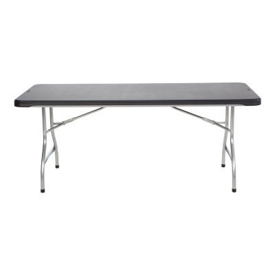Lifetime 6' Commercial Grade Stacking Folding Table, Black (Table Stacking Folding)