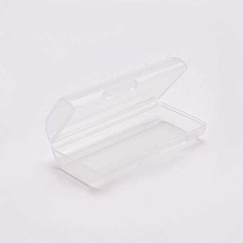 Fielect Transparent Battery Holder Organizer for AA Battery Plastic Compartment Multifunction Storage Box 1Pcs