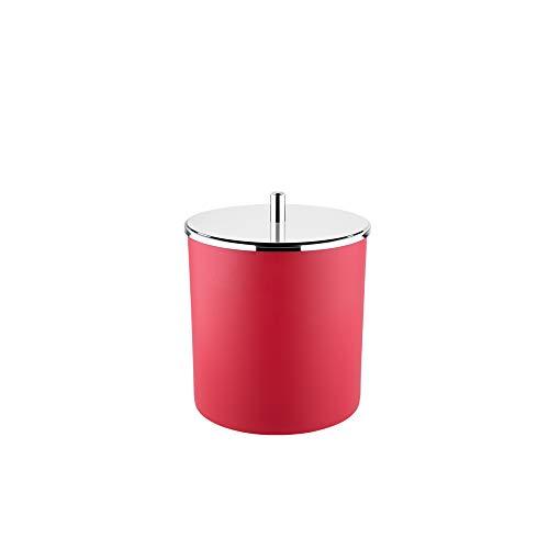 Lixeira PP Tampa Inox Brinox Decorline Lixeiras Vermelho 18.5 x 23 cm