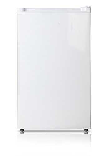Midea WHS-109FW1 Compact Single Reversible Door Upright Freezer, 3.0 Cubic Feet, White (Energy Star Bottom Freezer Drawer)
