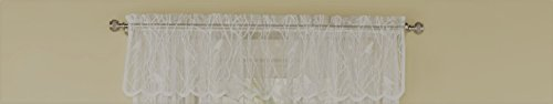 Royal Fir Tree (Canoro Bird Song Sheer Lace Tailored Window Curtain Valance - Ivory (56