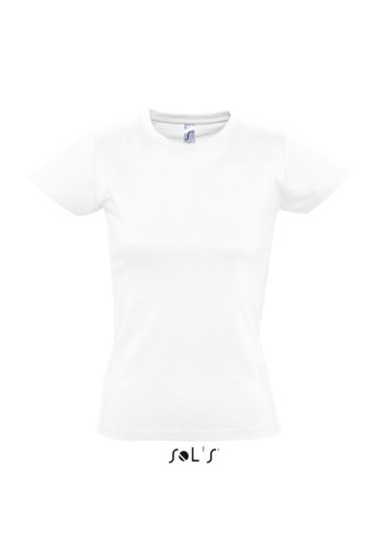 Sols - Imperial women - Damen Rundhals T-Shirt XL,White