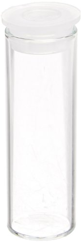 Shell Vials (National Scientific Vials Clear Glass Separate Cap, 15mm Diameter x 45mm Height (Pack of 100))