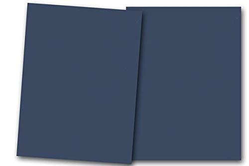 (Premium Smooth Matte Patriot Blue Navy Card Stock 80 Sheets - 80 lb. Cover - Great for Scrapbooking, Crafts, Flat Cards, Folded Cards, Weddings, Events, Showers,DIY Projects, Etc. (5 x 7))