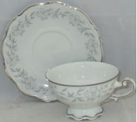 Mitterteich Lynn Royale Footed Cup & Saucer Set