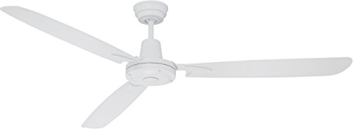 Craftmade 3 Blade White Ceiling Fan Without Light VE58W3 Velocity 58 Inch and Wall Control