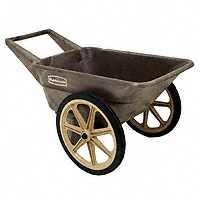 Rubbermaid Poly Farm Cart 200 Lbs-Wheelbarrow