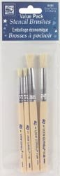 Loew-Cornell Bulk Buy Stencil Brush Set 2 Each Of Size 1 & 5 4404 (3-Pack) by Loew-Cornell