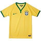 Brasil Home Jersey - Nike Youth Dri-FIT Brasil 2013/2014 S/S Home Stadium Jersey Medium