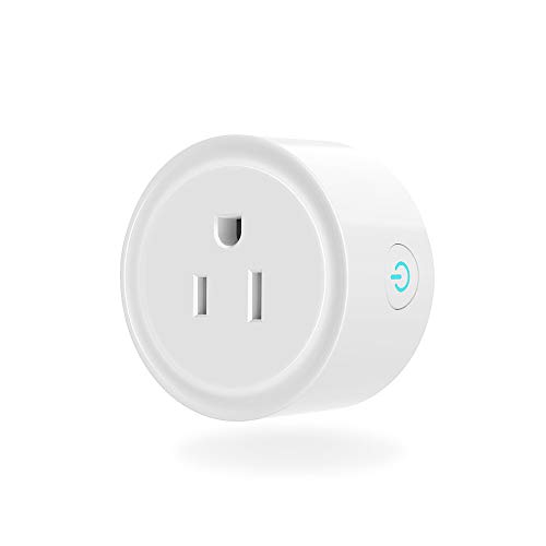 Smart Plugs Work with Alexa Google Home, IFTTT, ETL/FCC/Rohs Listed Smart Outlet, No Hub Needed Mini Socket