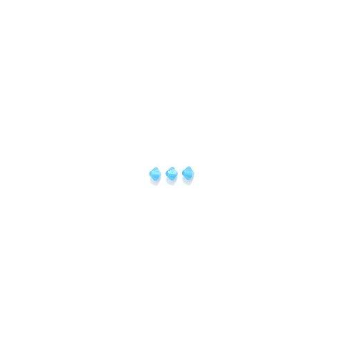 Swarovski Elements 5301 Bicone Diamond Beads, Opal, Caribbean Blue, 5-mm, -