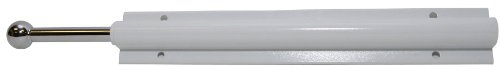 Easy Track RA1204 Sliding Valet Wardrobe Rod, White -