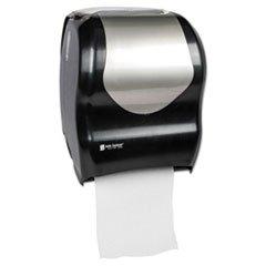 San Jamar T1370BKSS Tear-N-Dry Touchless Roll Towel Dispenser, 16 3/4 x 10 x 12 1/2, Black/Silver