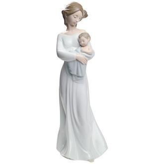 Nao by Lladro Collectible Porcelain Figurine: MY DEAREST BOY - 11 1/2 tall - mother with her baby son... by Lladro