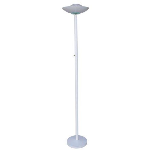 Clip Halogen Lamp - ORE International 3030WH Halogen Torchiere, White