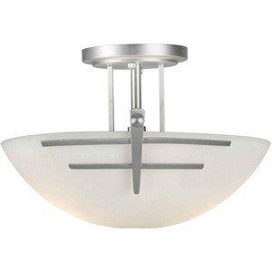 (Forte Lighting 2231-02-55 2 Light Semi Flush Ceiling Light )