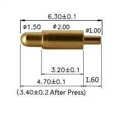 (Gimax 20pcs Spring Loaded Pogo Pin Diameter 2.0 mm Through Holes PCB Height 6.3 mm for Raspberry Pi Zero Solderless GPIO Pogo Pin pHAT)